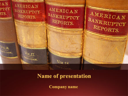 American Bankruptcy Law PowerPoint Template, 09647, Financial/Accounting — PoweredTemplate.com