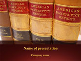 Financial/Accounting: American Bankruptcy Law PowerPoint Template #09647