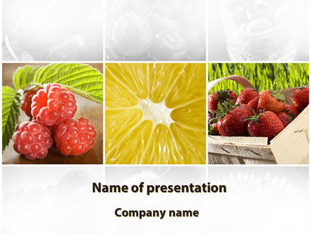 Food & Beverage: Plantilla de PowerPoint - baya vitaminizada #09653