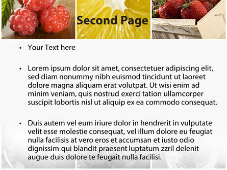 Vitaminized Berry PowerPoint Template, Slide 2, 09653, Food & Beverage — PoweredTemplate.com