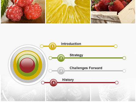 Vitaminized Berry PowerPoint Template, Slide 3, 09653, Food & Beverage — PoweredTemplate.com