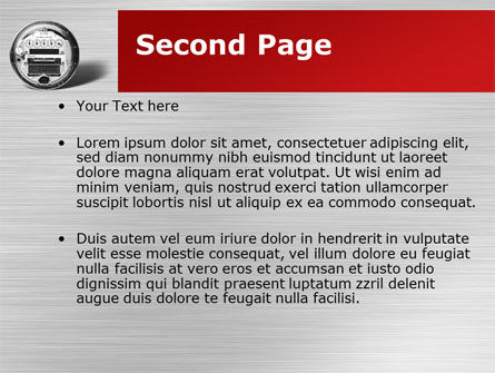 Electric Meter PowerPoint Template, Slide 2, 09654, Utilities/Industrial — PoweredTemplate.com
