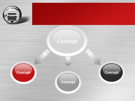 Electric Meter PowerPoint Template, Slide 4, 09654, Utilities/Industrial — PoweredTemplate.com