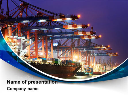 Port Of The Seas PowerPoint Template, 09655, Cars and Transportation — PoweredTemplate.com