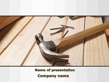 Construction: Carpenter's Tools PowerPoint Template #09656