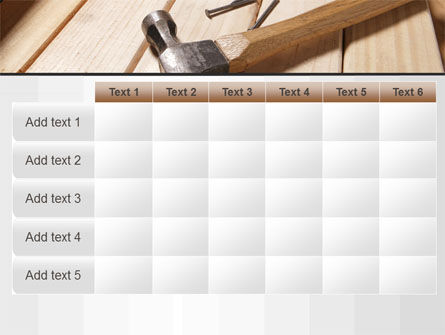 Carpenter's Tools PowerPoint Template Slide 15