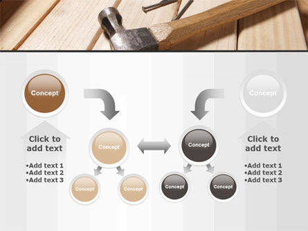Carpenter's Tools PowerPoint Template Slide 19