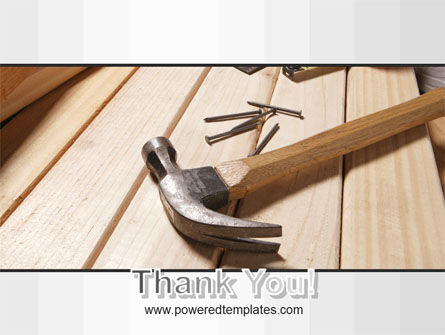 Carpenter's Tools PowerPoint Template Slide 20