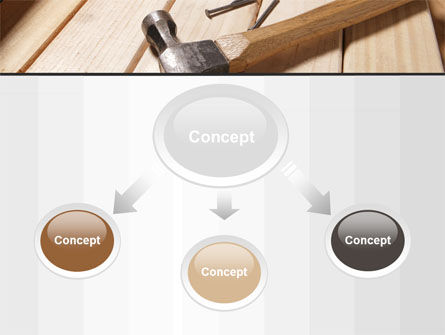 Carpenter's Tools PowerPoint Template, Slide 4, 09656, Construction — PoweredTemplate.com