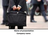 Business Concepts: Erster job PowerPoint Vorlage #09657