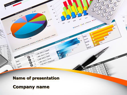 Pie Diagrams and Histogram PowerPoint Template, 09661, Consulting — PoweredTemplate.com