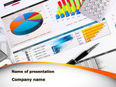 Consulting: Pie Diagrams and Histogram PowerPoint Template #09661