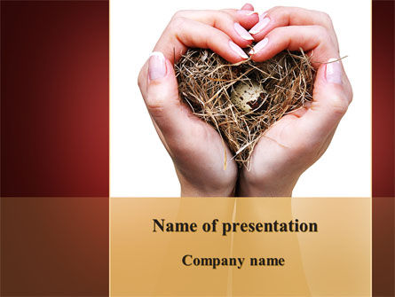Bird's Nest PowerPoint Template, 09662, Nature & Environment — PoweredTemplate.com