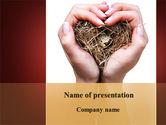 Nature & Environment: Bird's Nest PowerPoint Template #09662