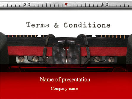 Terms And Conditions PowerPoint Template