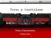 Legal: Terms And Conditions PowerPoint Template #09663
