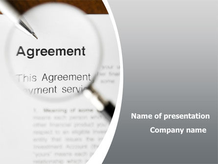 Consulting: Studying And Signing Agreement PowerPoint Template #09664