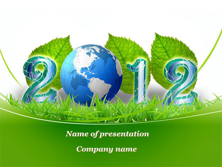 Global: 2012 Green Year PowerPoint Template #09667