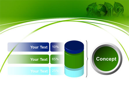 2012 Green Year PowerPoint Template Slide 11