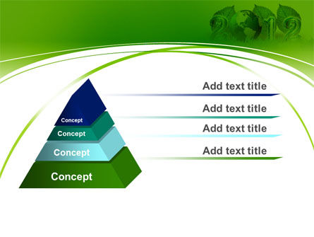2012 Green Year PowerPoint Template Slide 12