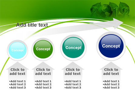 2012 Green Year PowerPoint Template Slide 13