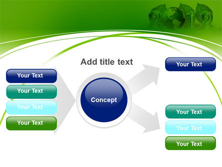 2012 Green Year PowerPoint Template Slide 14