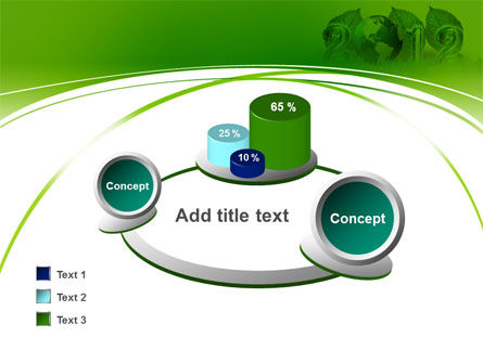 2012 Green Year PowerPoint Template Slide 16
