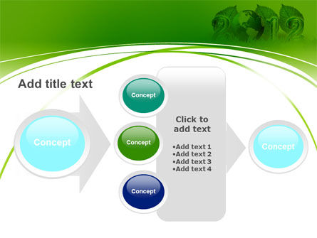 2012 Green Year PowerPoint Template Slide 17