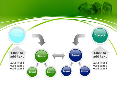 2012 Green Year PowerPoint Template Slide 19