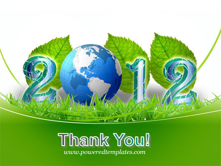 2012 Green Year PowerPoint Template Slide 20