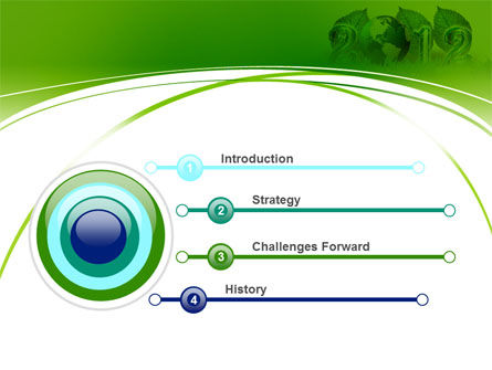 2012 Green Year PowerPoint Template Slide 3