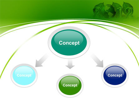 2012 Green Year PowerPoint Template Slide 4