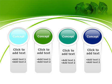 2012 Green Year PowerPoint Template Slide 5
