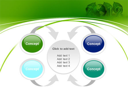 2012 Green Year PowerPoint Template Slide 6