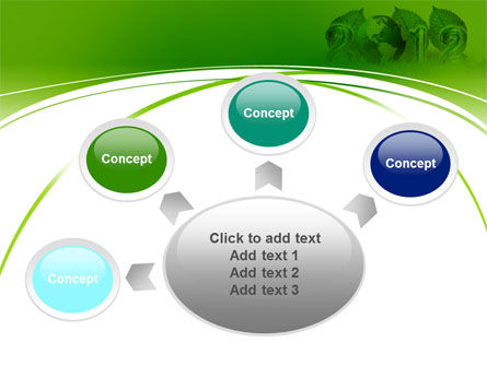 2012 Green Year PowerPoint Template Slide 7