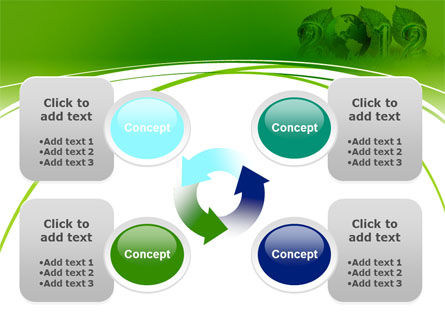 2012 Green Year PowerPoint Template Slide 9