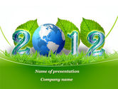 2012 Green Year PowerPoint Template#1