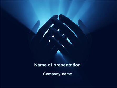 Religious/Spiritual: Eternal Light In your Hands PowerPoint Template #09668