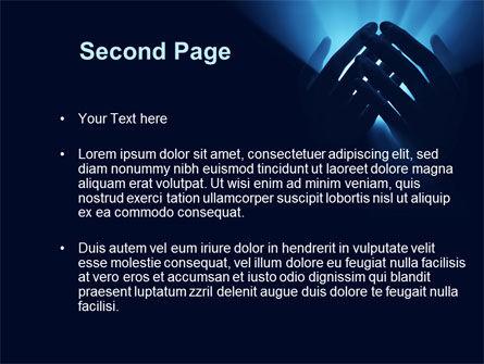 Eternal Light In your Hands PowerPoint Template, Slide 2, 09668, Religious/Spiritual — PoweredTemplate.com