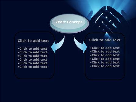 Eternal Light In your Hands PowerPoint Template, Slide 4, 09668, Religious/Spiritual — PoweredTemplate.com