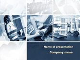 Sports: Gym PowerPoint Template #09670