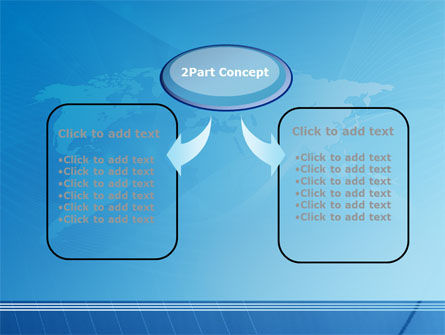 Blue Earth Map PowerPoint Template Slide 4