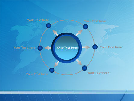 Blue Earth Map PowerPoint Template Slide 7