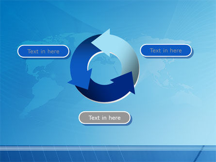 Blue Earth Map PowerPoint Template Slide 9