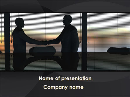 Handshake In The Office PowerPoint Template