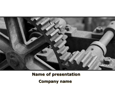 Gear Reducer PowerPoint Template, 09674, Careers/Industry — PoweredTemplate.com