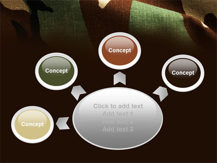 Woodland Camouflage PowerPoint Template Slide 7