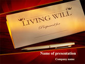Legal: Living Will PowerPoint Template #09676