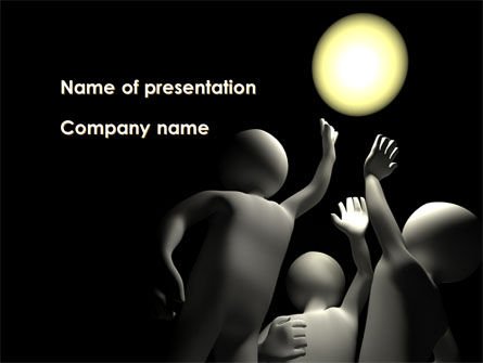 Touch The Sun PowerPoint Template, 09677, Sports — PoweredTemplate.com