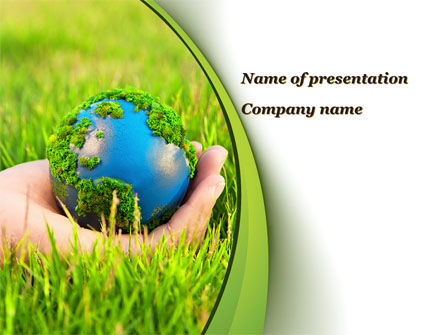 Earth In Hand PowerPoint Template, 09678, Nature & Environment — PoweredTemplate.com